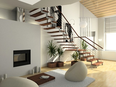 beautiful rental home interior