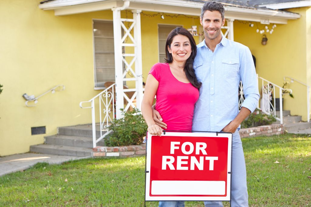 Couple at new Rental Property